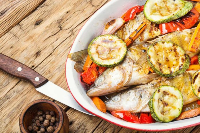Fish Recipe: Tasty Grilled Perch with vegetable | Ice Fishing Digest