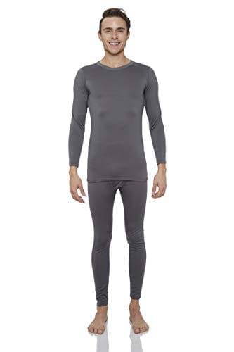 Rocky Thermal Underwear for Men Midweight Fleece Lined Thermals Men's Base Layer Long John Set